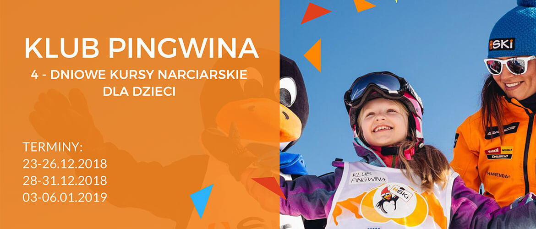 Zapraszamy do zapoznania się z ofertą Szkolenia narciarskie Klub Pingwina
